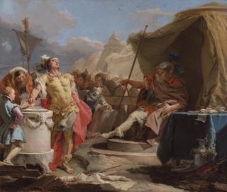 Giambattista Tiepolo: Mucius Scaevola vor Porsenna, um 1750–1753.