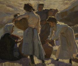 Rudolf Gudden: Mädchen mit Wasserkrügen von 1911, erworben im Jahr 1943 beim Kunsthaus Wilhelm Ettle in Frankfurt a. Main.