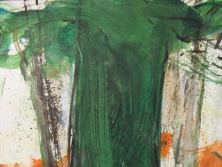 In Oskar Kollers Werk tauchen neben unzähligen, farbversprühenden Blumenbildern auch immer wieder farblich reduziertere, aber nicht minder beeindruckende Baumbilder auf. Die Ausstellung zeigt vier Großformate.
