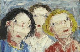 """Holmeads """"Drei Mädchen"""" (1971) aus der Sammlung Joseph Hierling."""
