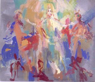 """In seinen Arbeiten setzte sich Robert Höfling mit dem Thema """"Mensch und Gaube"""" auseinander. Im Museum am Dom sind Werke von ihm zu sehen."""