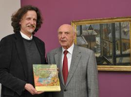 Präsentierten im Museum im Kulturspeicher ihr neues Buch zum malerischen Werk von Max Dauthendey: Daniel Osthoff und Walter Roßdeutscher.