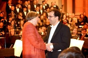 Stifterin Ingrid Maria Bücher und der Hauptpreisträger 2018, Prof. Matthias Beckert. Foto: promoart.de